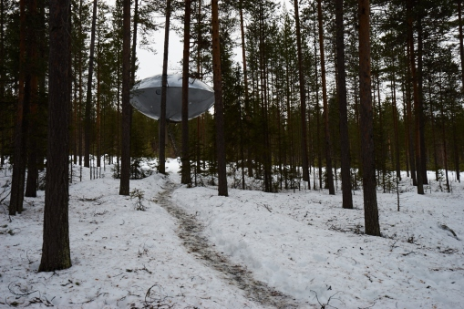 UFO landing hotel?